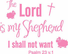 Psalm 23 Groovy Bible Quote, Christian, Kids Wall Art Stickers Decal Murals