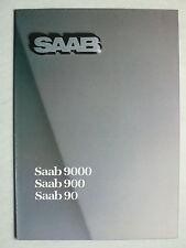 Prospekt Saab Programm: 90, 900, 9000, 1985, 16 Seiten, Riesenfolder
