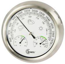 Außen- / Innen-  Wetterstation analog Hygrometer Barometer Thermometer Edelstahl