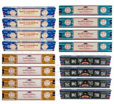4-PACK Satya Incense Sticks, Hand Rolled In India, 15g Boxes, BUY 2 GET 1 FREE
