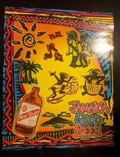 Vintage Red Stripe Beer Poster Print Jamaica Bottle Neon Colors