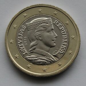 LATVIA - 1 € Euro circulation coin 2016 uncirculated coin from roll