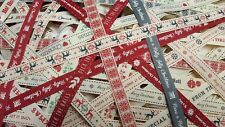 Christmas Ribbon Assorted Bundle of 1m lengths 10 Pieces Per Packet Berisfords