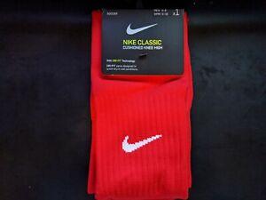 NIKE Unisex Classic cushioned Knee High Soccer Socks RED  Men 6-8 WMN 6-10 NWT