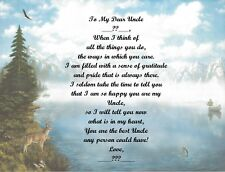 Christmas Gift/ Birthday Gift For Uncle Personalized Poem Gift ~ Mountain Deer