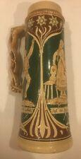 """Vintage Stoneware Ceramic. Ist Ein Leben Auf Der Alm Da..German Beer Stein 13.5"""""""