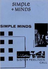 Simple Minds Fanzine Lyric Sheet Sister Feelings Call 1980's