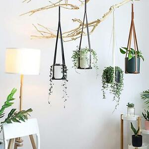 Leather Plant Hanger Hanging Planter Flowerpot Holder For Plant Cactus Succulent