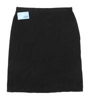 Artigiano Womens Size 14 Merino Wool Blend Black Skirt (Regular)
