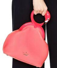 NWT Kate Spade New York Strut Your Stuff Kissing Flamingo Dust Bag Clutch $428