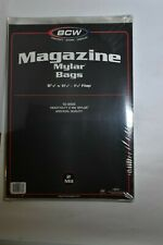 BCW Magazine Mylar Bags 8 7/8in x 11 1/2in 50 Bags 2 Mil NEW