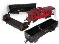 4-Vntg. 1930's O Gauge American Flyer Lines Railroad Trains:4017,4018,4021,40..