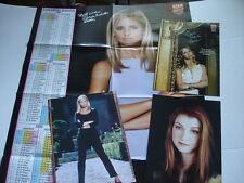 SARAH MICHELLE GELLAR Buffy Vampire HANNIGAN magazine pinups & poster LOT of 4