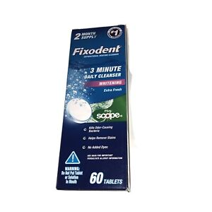 Fixodent Plus Scope Daily Denture Cleaner Tablets, 60 ct