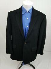 Frank Stella Jet Black 100% Cashmere 2-Button Sport Coat Blazer 43R Euc
