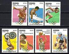 JO été Nicaragua (60) série complète de 7 timbres oblitérés