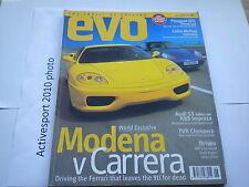 EVO Magazine Issue 8 June 1999 - F360 Modena V Porsche 911 Carrera - Audi S3 V R
