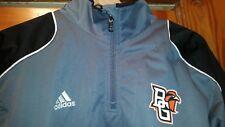 Bowling Green Falcons Embroider Adidas Windbreaker Gray Jacket Adult Large New