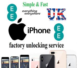 EE UK Unlocking Service Unlock Apple iPhone 12 11 XS X XR SE 8 8 Plus 7 6s 6 5s