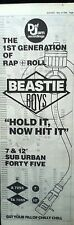 BEASTIE BOYS Hold It Now Hit It 1986 UK Poster size Press ADVERT 16x6 inches