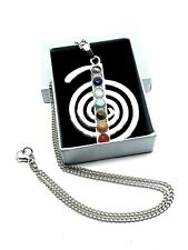Cho Ku Rei Chakra Gemstone Pendant Silver Plated Reiki 18 Inch Chain Necklace