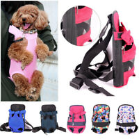 Pet Carrier Backpack Front Cat Dog Comfort Nylon Mesh Puppy Travel Bag Legs Out