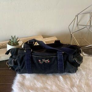 Vintage Fossil Black Small Shoulder Bag Satchel Handbag VTG
