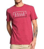 Quiksilver Mens T-Shirt Red Size 2XL Clued Up Crewneck Graphic Tee $25 091