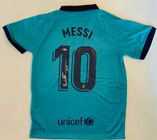 Barcelona Leo Lionel Messi Signed Soccer Jersey Alternate Kit  - Beckett BAS COA
