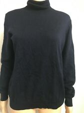 H & M SIZE L NAVY BLUE 100% MERINO WOOL JUMPER