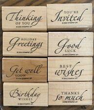 Stampin Up Sincere Salutations Holiday Good Luck Get Well Rubber Stamp Set