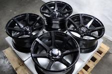 15x8 Wheels Fit Honda Civic Accord Corolla Kia Spectra Elantra Black Rims 4x100