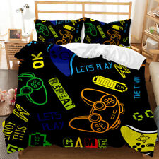 Game Handle Design Bedding Set Quilt Cover and Pillowcase Queen For Kids Teens