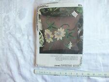 Vintage crewel creative stitchery kit passion flowers pillow kit unopened