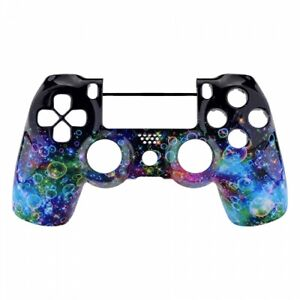 PS4 Controller Frontschale Glossy Rainbow Bubbles Case Gehäuse JDM-040, 050, 055