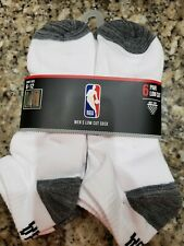 Icebrands NBA Men's Blanc Chaussettes Basses Net-Dry 6 Paires Chaussures Taille