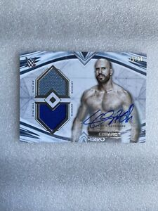 2020 Topps WWE Undisputed Cesaro Dual Relic Auto #d /99