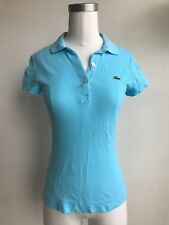 Women Lacoste Polo Shirt, Turqouise, Size 34 (FR) or X-Small (US)