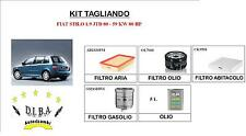KIT TAGLIANDO FIAT STILO 1.9 JTD 80 59KW 4 FILTRI + 5 L OLIO SELENIA WR 5W40