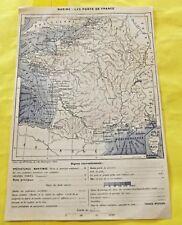 1898 Marine : les Ports de France old map mer et océan le Havre Marseille Nice