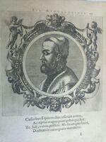 1574 Icones veterum Ritratto Giulio Alessandrini Medico Trento Civezzano