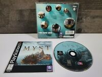 Myst Sony PlayStation 1 1996 PS1 Black Label Game Complete Case Manual Tested 🎮
