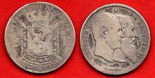 Belgique Belgium : Jolie 2 Francs 1880 Léopold II  Les 2 Rois argent silver