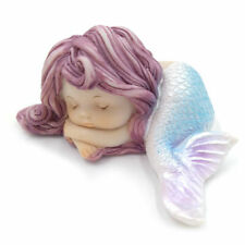 Resin Little Mermaid Statue for Miniature Fairy Garden Aquarium Cake Decorations