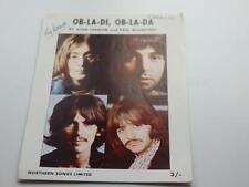 THE BEATLES ORIGINAL 1968  SHEET MUSIC    OB-LA-DI, OB-LA-DA  SONG SHEET