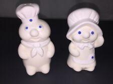 Pillsbury Poppin Fresh & Poppie Fresh  Salt & Pepper Shakers Dough Boy Girl