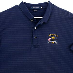 POLO GOLF RALPH LAUREN Navy Blue RYDER CUP Country Club S/S POLO SHIRT MEN'S XL