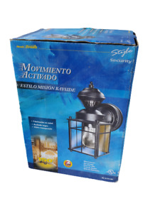 Heath/Zenith HZ-4132-BK Black Bayside Mission Motion Activated Security Lantern