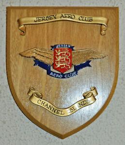 Jersey Aero Club wall plaque shield crest Channel Islands