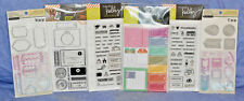 Hero Arts & Recollections Clear Stamps/Stamp & Cut Lot of 6: PLANNER ACCESSORIES